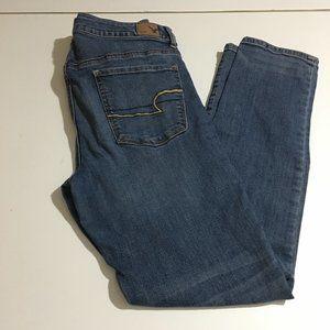 American Eagle Hi Rise Skinny Womens Jeans Size 10